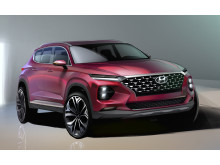 Första animerade bilderna på fjärde generationen Hyundai Santa Fe.