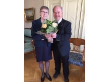 Rektor Maj-Britt Johansson och landshövding Per Bill