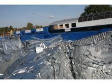 Återvinningståget som transporterar skrot från Volvo Cars Body Components i Olofström bild 2