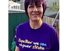 Donna Hawkins fundraising for Stroke Association