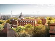 Carlanderska sjukhuset i Göteborg. Illustration: White arkitekter