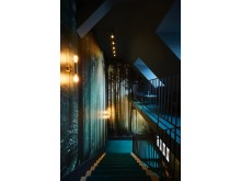 Stairwell at Spedition Hotel & Restaurant, Thun, Switzerland - design by Stylt