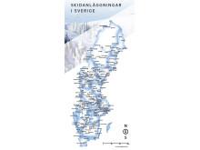 Karta svenska skidanläggnignar