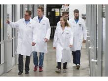 VPO3 teamet besöker BASF Greenhouse