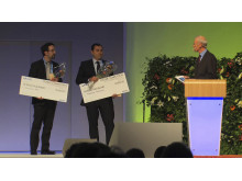 The Research competition winners: Basic research - Theofilos Koutouzis, USA, Clinical Research - Francesco Pieri, Italy