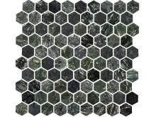 U Hexagon Green Polished