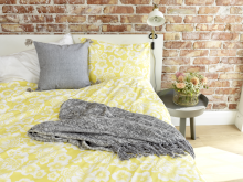 bed set summer blossom yellow