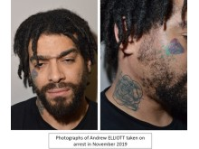 Elliott's tatoos taken arrest