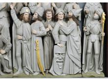 Udsnit af altertavle fra Næsbyhoved Broby Kirke
