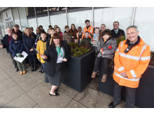 Milton Keynes station planters