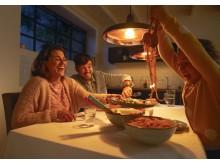 Hue middagsbelysning