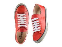 Sneakers i borstat skinn