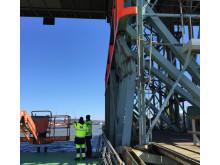 Skadat påseglingsskydd på Götälvbron