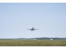 Aircraft during take off at Stockholm Arlanda Airport