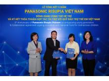 Collaboration agreement signing procedure between Panasonic Vietnam and National Fund for Vietnamese Children