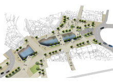 An aerial view of how the town centre could look