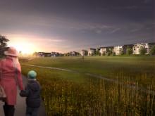 Illustration från planprogram Lilljansberget. Vy från söder.