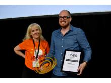 Ditte Hammarström, Creative Director Snowfire och Robert Lundberg, webbdesigner MTR Express