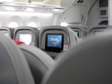 Underholdningssystem om bord Dreamlineren