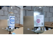 HMRC seized fake vodka labels front and back