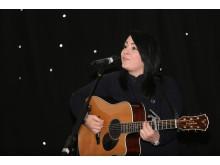 LUCY SPRAGGAN (x2): The pop star was a big hit with festival guests and was on stage for nearly two hours.