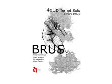 "Brus ""4X1"" Differnet Solo, 2 mars 19.30, affisch Helena Laukkanen"