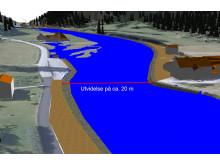 Prosjektering i Gemini - utvidelse av elva