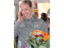 Lisa Nordén får veta att hon tilldelats bragdguldet