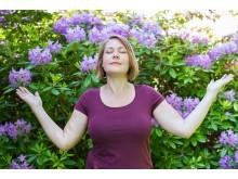 Caroline Nordman leder voice bath och toning på Andningens Dag