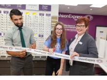 Teen eye cancer survivor opens new Cirencester optician