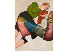 "Jens Fänge, ""Sömnen"", 2014, olja på pannå, 35 x 26,7 cm"