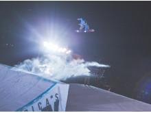 Kjersti Buaas landet frontside 1080 på trening, men klarte det ikke i konkurransen. Foto: Process Films / Snowboardforbundet