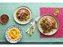 Krispstekt ankbröst med matig nötquinoa & len hummus
