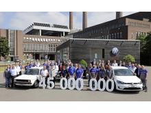 Volkswagens fabrik i Wolfsburg har siden 1945 produceret 45 millioner biler