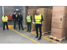 The mayor of Hedensted, Kasper Glyngø, headed the official inauguration of highbay 4.
