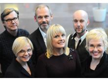Gruppbild på kärntruppen bakom den nya kommunikativa plattformen