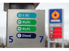 Statoil pumpskylt och stolpe