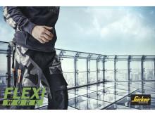 FlexiWork arbeidsbukse fra Snickers Workwear