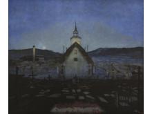 Harald Sohlberg, Natt (Røros kirke), TKM. Foto: Trondheim kunstmuseum