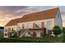 Hyreshus från det vinnande förslaget från Götenehus och K-fastigheter.