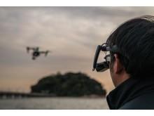 AirScouter-virtuaalilasit dronelennättäjän apuna