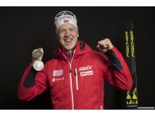 Johannes med medaljer