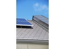 Solceller från Monier Roofing på Passivhus - Fiskarhedenvillan