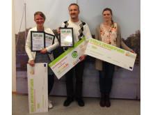 Vinnare i tävlingen Miljökloka kontor.