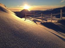 Soloppgang over Hemsedal