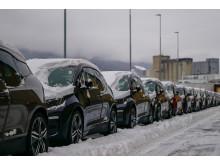 BMW i3 på kaia i Drammen