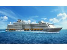 Når Harmony of the Seas stævner ud på skibets første tur fra Barcelona til Rom, bliver der plads til 5.479 passagerer på skibets 16 dæk.