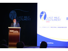 IE Singapore CEO delivers the Opening Address at Last Mile Fulfilment Asia (LMFAsia) 2015