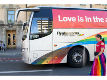 Flygbussarna Stockholm Pride 2015