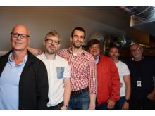 Gutta på loftet: Dag Hals, Stig Gunnar Kristiansen, Norbert Zawadka, Arild Solberg, Peer Knutsen og Freddy Dovran.